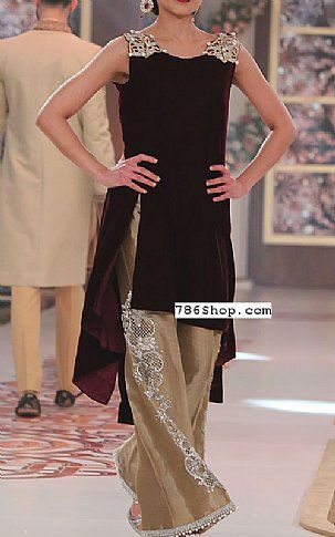 Maroon Velvet Suit | Buy Pakistani Fashion Dresses and Clothing Online in USA, UK