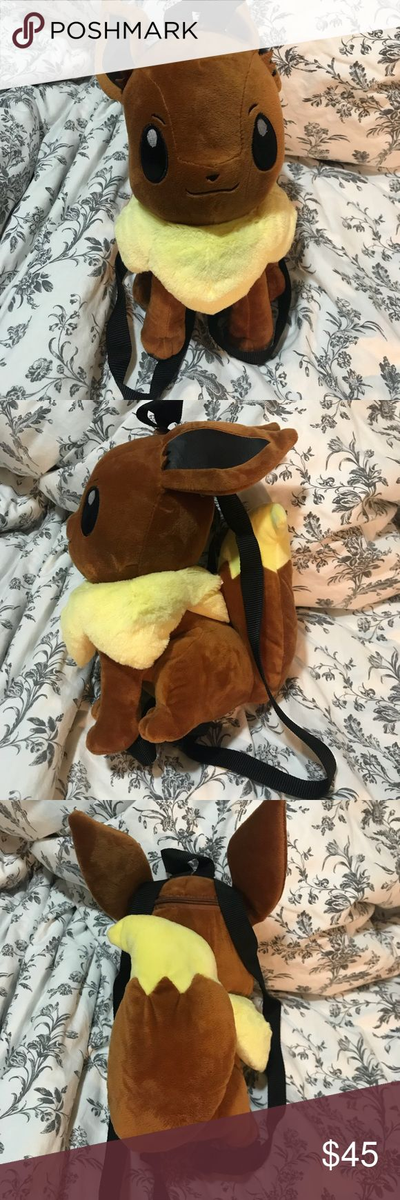Pokemon backpack Eevee backpack. There's a tiny pocket in the back that can at most carry keys. New never used. ✖️NO TRADES✖️ Pokemon Bags Backpacks