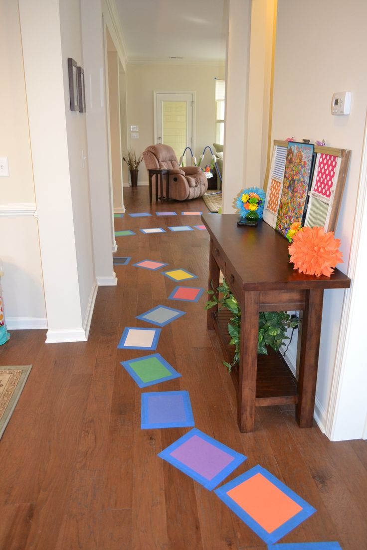 Candyland birthday party ideas construction paper game for Candyland bedroom ideas