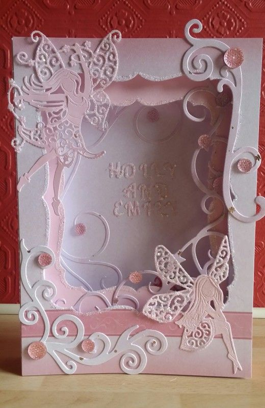 This is another card made with TL Panorama dies, TL fairy dies and X Cut flourishes x