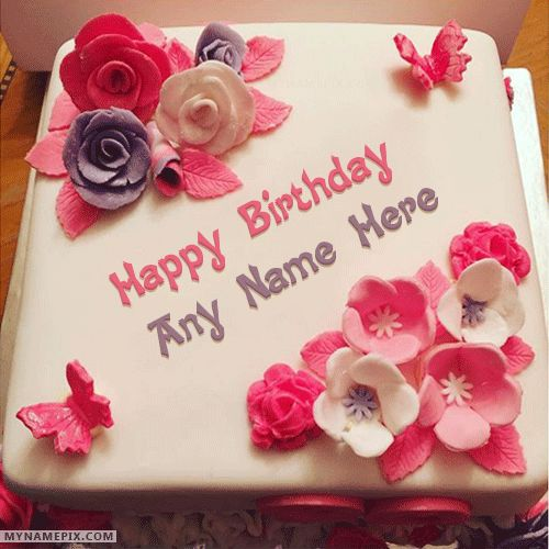 135 best cake name pictures images on pinterest anniversary beautiful birthday cake for girls with name publicscrutiny Image collections