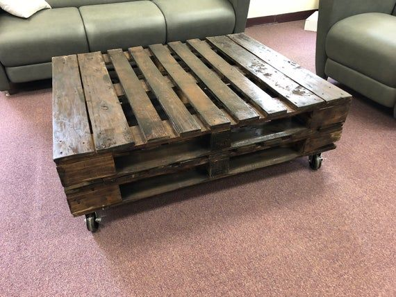 Pallet Coffee Table Handcrafted Stained And Seal Will Survive Outdoor Use For Limited Tim Diy Wood Furniture - How To Stain And Seal Coffee Table