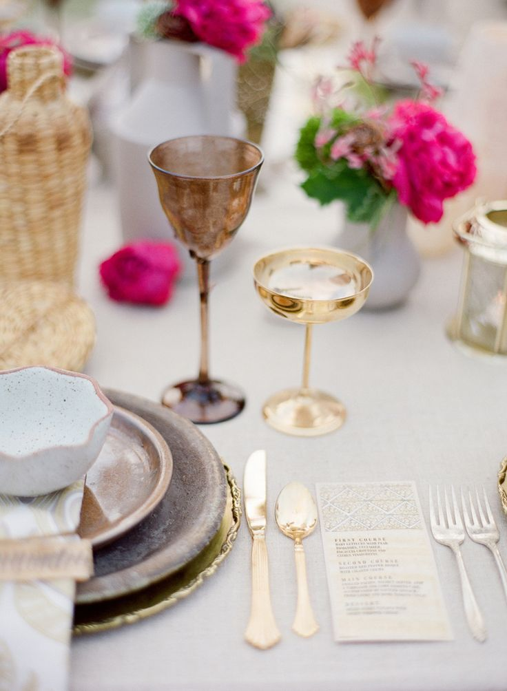 Rue Magazine (July/August 2011). Design by Canvas & Canopy. Photographed by Jose Villa.: Tablesettings, Table Settings, Wedding Tables, Place Settings, Wedding Ideas, Tablescapes, Dream Wedding, Gold Flatware, Gold Wedding
