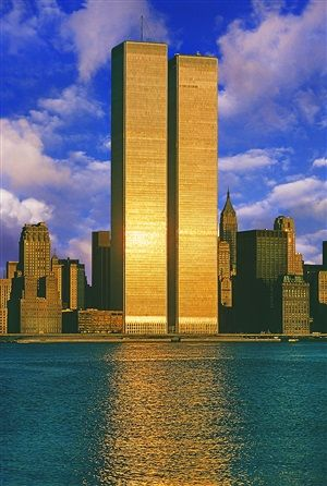 Twin Towers, World Trade Center by Mitchell Funk