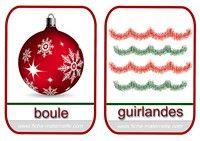 imagier de Noël boule et guirlandes