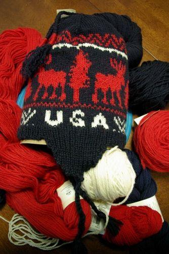 Knitting Olympics Ravelry : Usa hat free knitting pattern closest one i ve