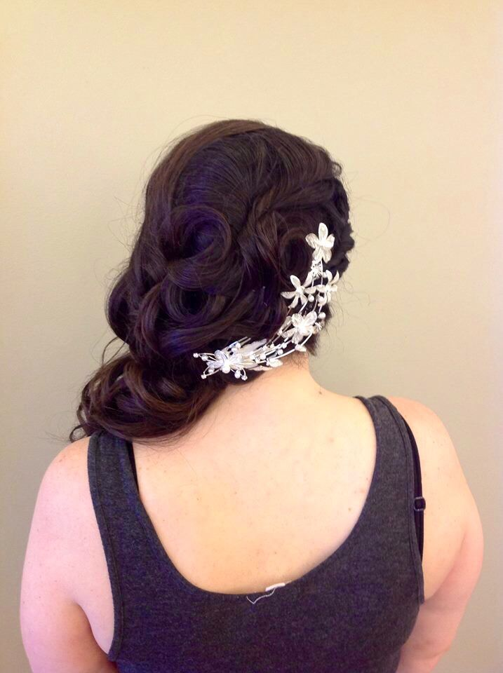 Off to the side Bridal updo