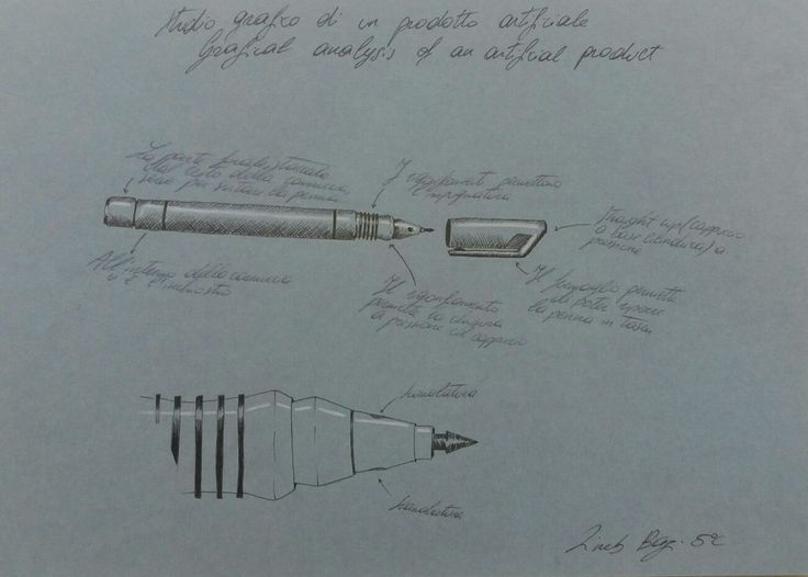 studio grafico di una penna, Zineb Bazi 5C a.s.2016/17, liceo artistico Stagi Pietrasanta.