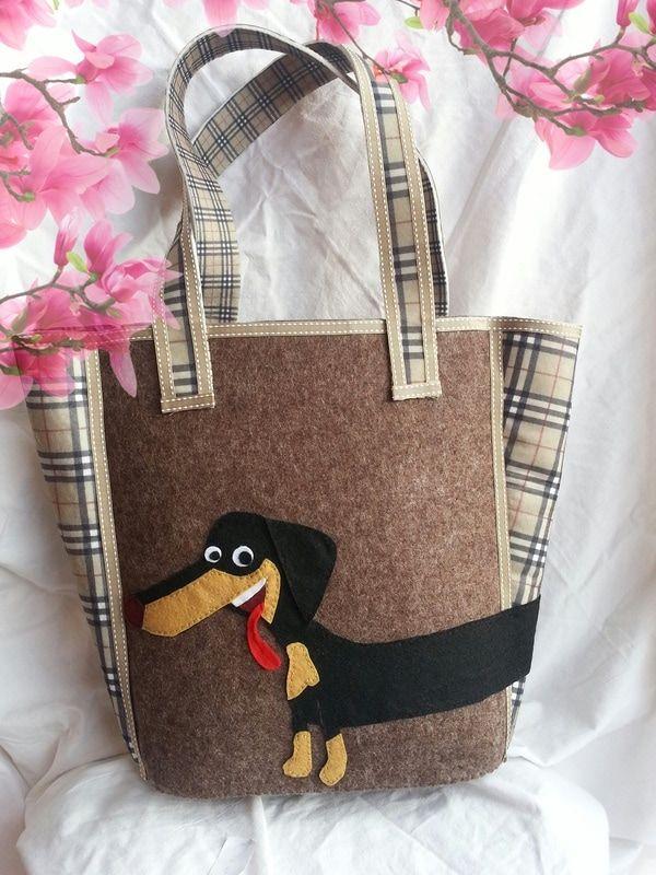 Lo-Bag Zoe in feltro melange e stampa burberry in vendita su Wacoh....piattaforma del handmade  vsezione sartoria vetrina AbiLolly lo