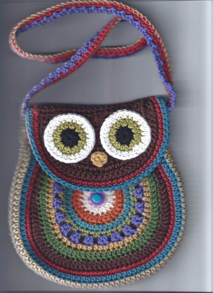 My version of an owl purse.  For my beautiful granddaughter:
