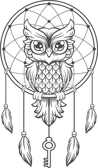 dreamcatcher owl tattoo - Google keresés                                                                                                                                                     More