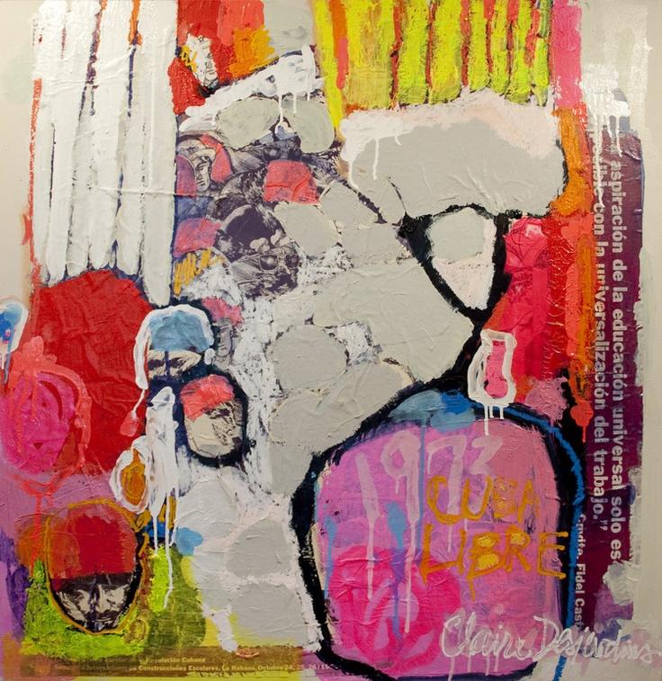 love: Saatchi Art, Free Cuba, Artists Claire, Abstract Art, Saatchi Online, Online Artists, Claire Desjardin, Mixed Media, Art Artists