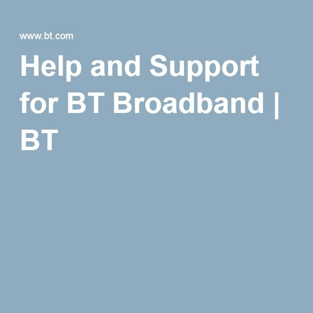 Help and Support for BT Broadband | BT