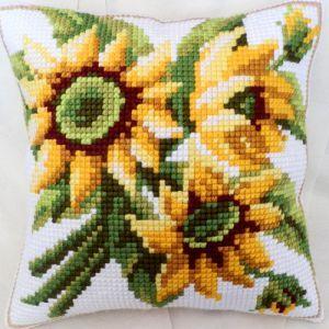 Ravel cross-stitch counted cushion