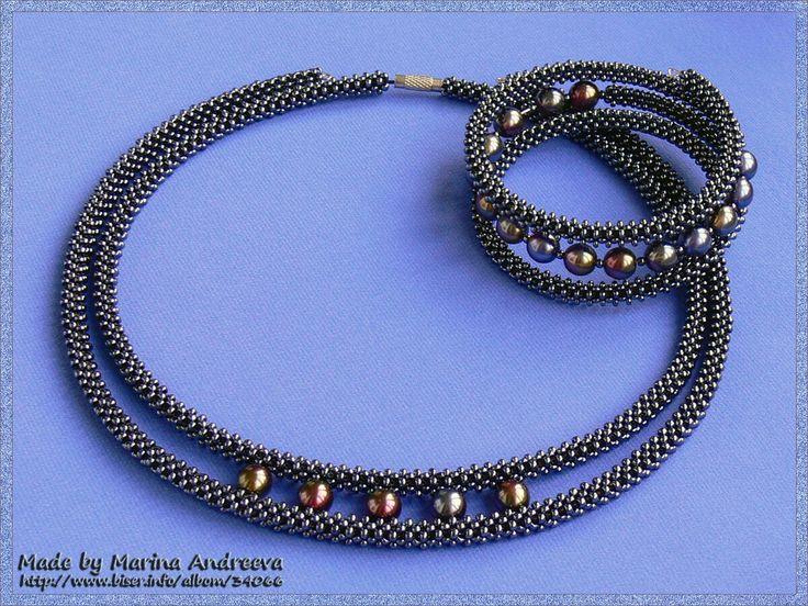 Bead wrapped necklace/bracelet