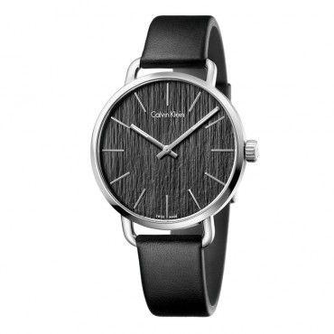 K7B211C1 Ανδρικό - γυναικείο ελβετικό ρολόι CALVIN KLEIN Even με μαύρο δέρμα και ασημί καντράν | Ρολόγια CK Κοσμηματοπωλείο ΤΣΑΛΔΑΡΗΣ στο Χαλάνδρι #Calvin #Klein #even #δερμα #ρολοι