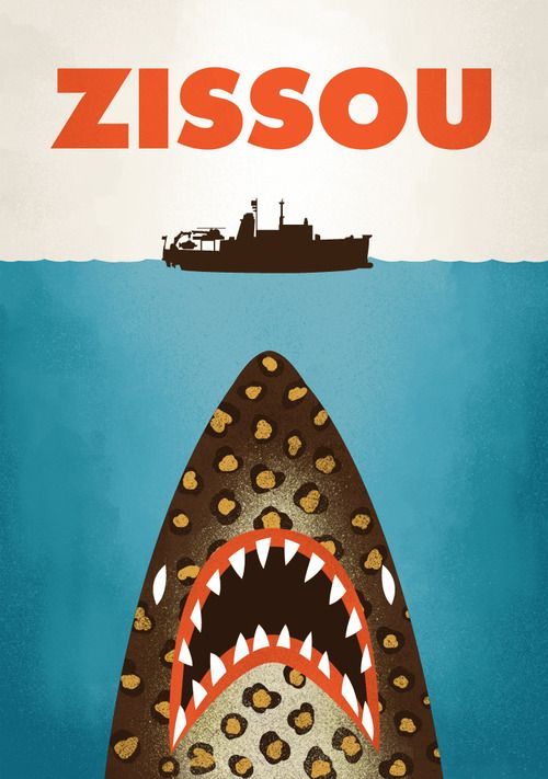 The Life Aquatic with Steve Zissou Jaws-style poster by Chris Wharton
