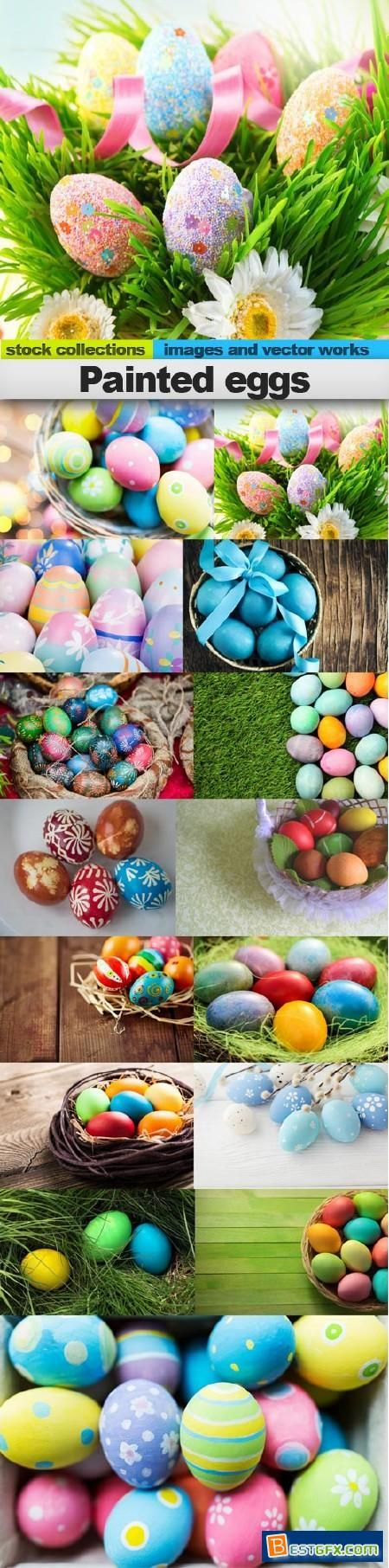 Painted eggs, 15 x UHQ JPEG