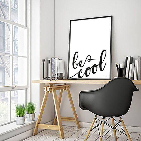 PLAKAT napisem: Be Cool - 40x50 cm - colormint - Plakaty typograficzne