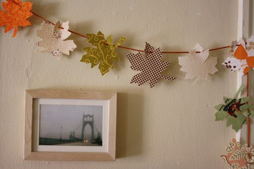Майкл Энн сделала:. ткани листьев гирлянды учебник