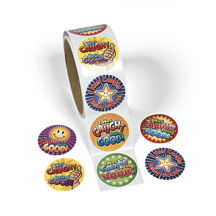 """""""I Was Caught Being Good"""" Stickers, 100 pack - Dot NZ Shop"""