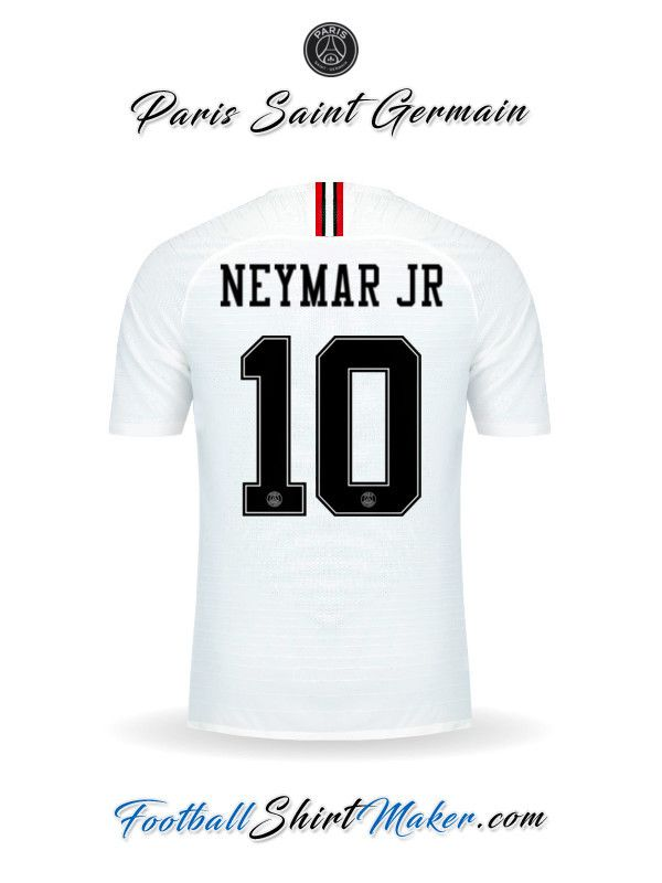 604e75bb1c Crear Camiseta de Paris Saint Germain 2018 19 Jordan con tu Nombre ...