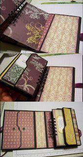 Cyndi's Stamping Blog: Tutorial - Envelope Punch Board File Folder Album.