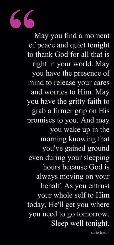 Goodnight and God bless! ✨ ...