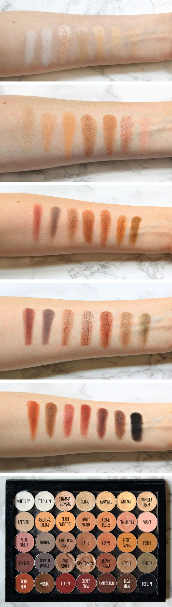 The motherload of Makeup Geek swatches!