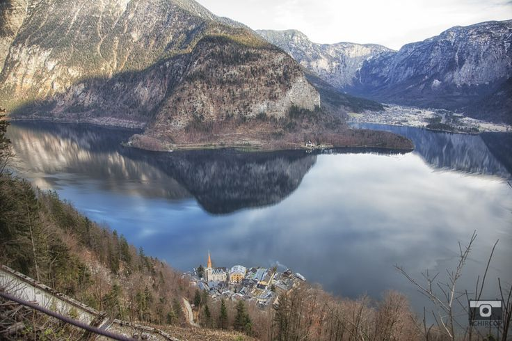 Hallstatt, Austria from atop the mountain. incredible scenery and plain silence.