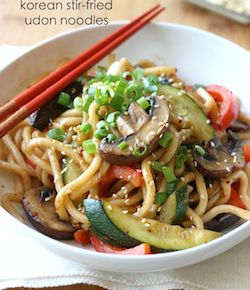 Korean Stir-Fried Udon Noodles recipe