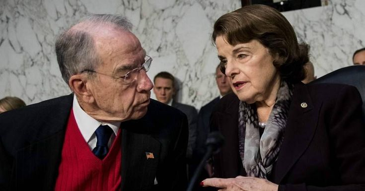 In California last weekend, the state Democratic Party failed to endorse longtime incumbent Sen. Dianne Feinstein (pictured above right), instead, 54 percent of delegates threw their support behind a far more progressive candidate running against Feinstein—Kevin de León. (Photo: Drew Angerer/Getty Images)