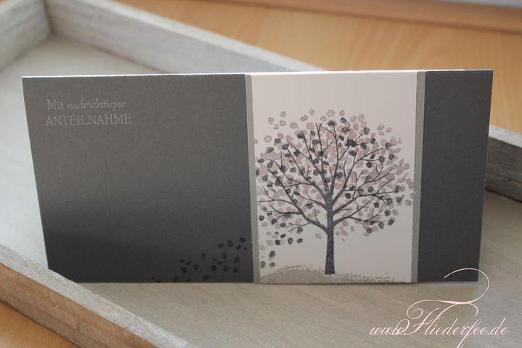 Stampin' Up! Trauerkarte, Baum der Freundschaft