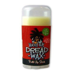 Knotty Boy Dreadlock Wax Roll-Up Stick Light by Knotty Boy. $6.95. non-greasy, non-cakey and, dang, it smells sweet. strong hold binds locks together and allows for regular washing. easily pop into backpack or purse with smooth, compact design. easy, mess-free applicator. all-natural ingredients promote healthy, strong locks and prevent breakage and brittleness. Long-awaited, much requested... Knotty Boy DreadStuff proudly presents the Knotty Boy Dread Wax Roll-Up Stick! So y...