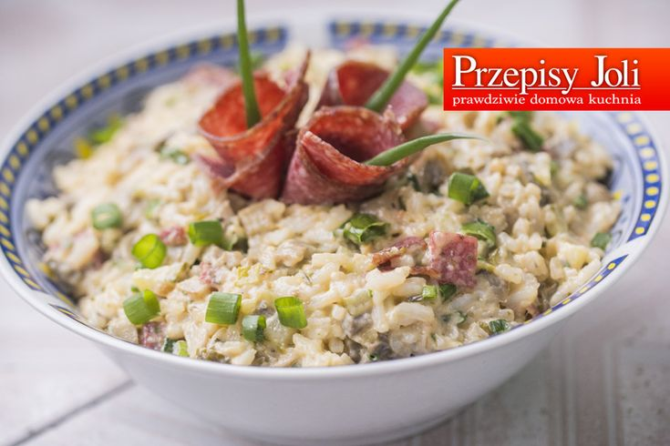SAŁATKA Z RYŻEM I PIECZARKAMI - pyszna wytrawna sałatka z wędliną, pieczarkami. ogórkami konserwowymi i ryżem. Idealna na imieniny.