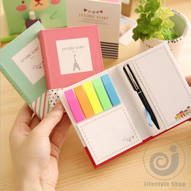 korean creative tower hardcover combine memopad notepad stationery diary notebook office school supplies + pen-in Notebooks from Office & School Supplies on Aliexpress.com | Alibaba Group
