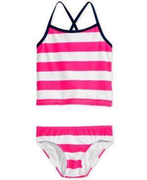 Kanu Surf 2-Pc. Layla Striped Tankini Swimsuit, Toddler & Little Girls (2T-6X) - Pink 2T