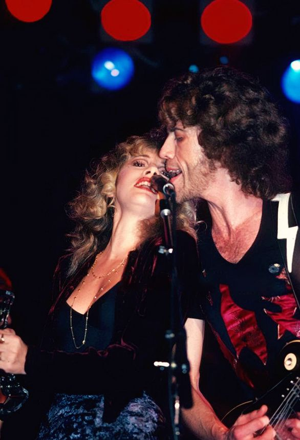 Stevie ~ ☆♥❤♥☆ ~    and Bob Welch on stage at the Roxy in 1981