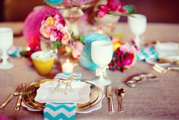 Chevron Wedding Details (Sitting in a Tree Events)