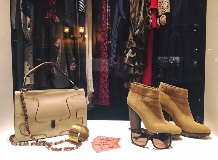 Miu Miu bag, modern vintage booties, recycle echo eyewear, jewelry