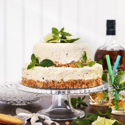 Frozen mojito cheesecake