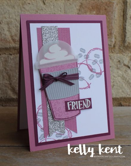 Stampin' Up! Coffee Cafe Bundle handmade card | kelly kent