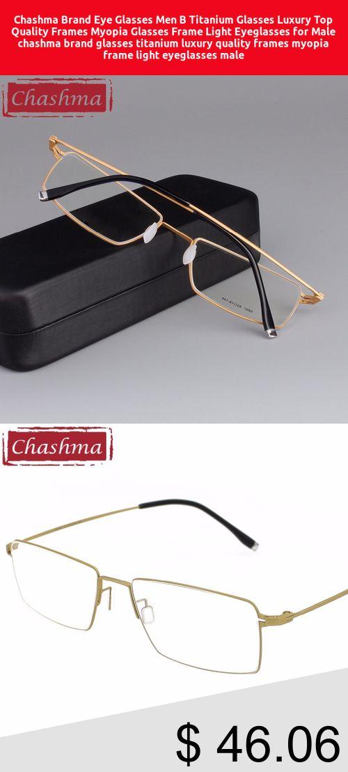 28871580ed62  53% Off  Chashma Brand Eye Glasses Men B Titanium Glasses Luxury Top  Quality
