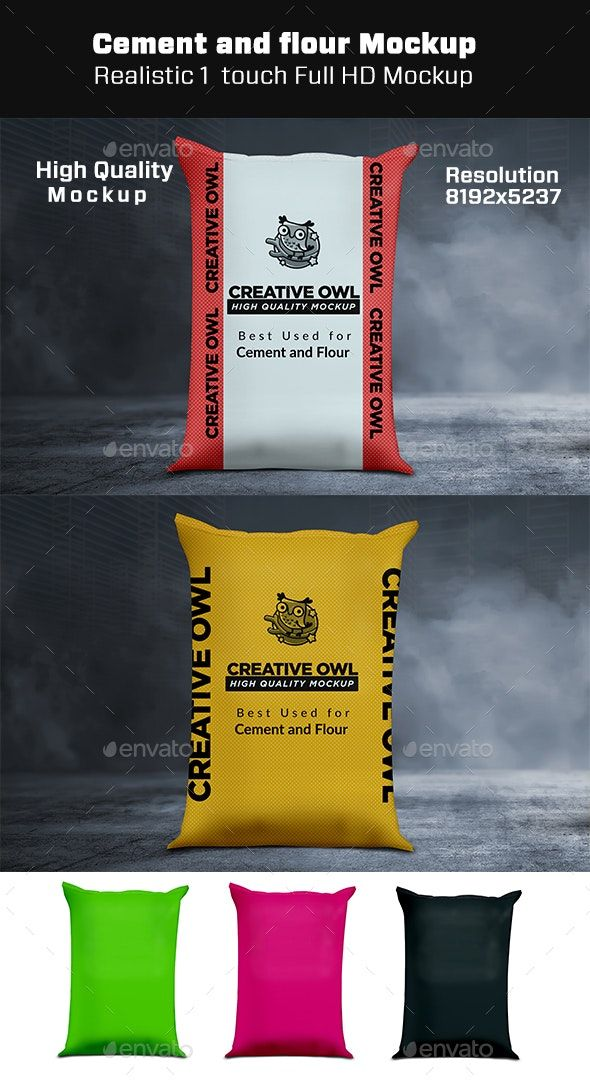 Download Cement Or Flour Mockup Cement Mockup Cement Design