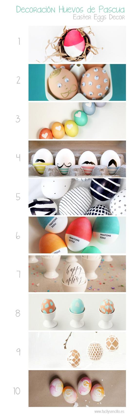 Fácil y Sencillo: 10 Formas de Decorar Huevos de Pascua Originales / Easter Egg Decorations