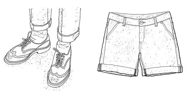 Мужские костюмные брюки с подворотом