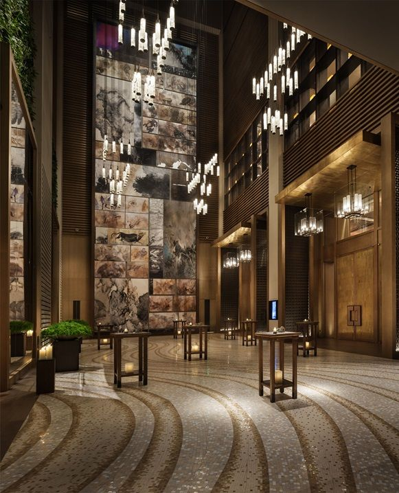 Contemporary Hotel Foyers : Gallery rosewood beijing architecture walls