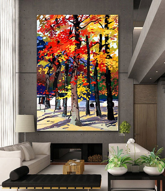Fall of the Xiang Mountains Series 2 - canvas