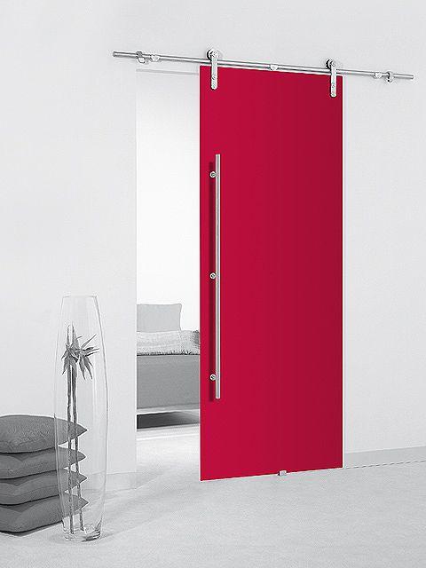 Puerta corredera cristal color
