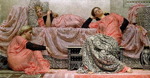 Albert Joseph Moore, Reading Aloud, (1884)